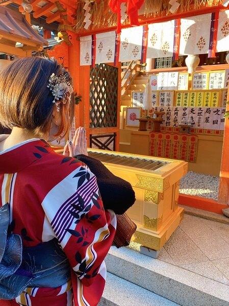 冬の京都で着物レンタルの防寒対策