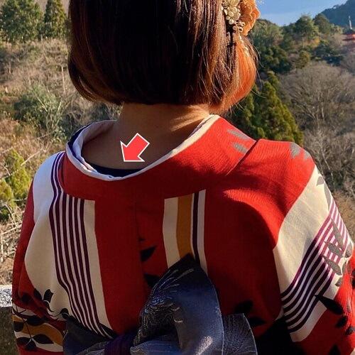 冬の京都、着物レンタルで初詣の防寒対策インナー